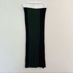Zara Color Block Cable Knit Maxi Skirt Sz Medium